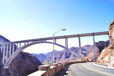 Hoover Dam highlighting new freeway bridge
