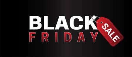 Illustration pour Black Friday Sale Simple Banner - image libre de droit
