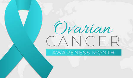 Ovarian Cancer Awareness Month Background Illustration Banner Royalty Free Vector Graphics