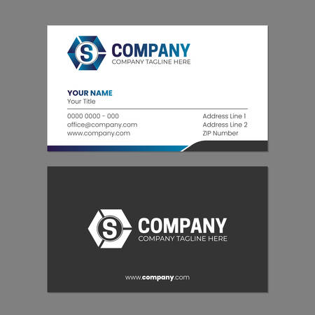 Illustration for Initial Abstract  and Business Card Design Template - Royalty Free Image