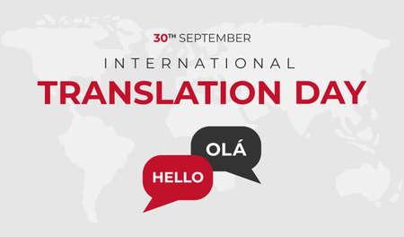 Illustration pour International Translation Day Background Illustration - image libre de droit
