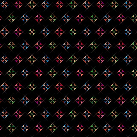 Seamless repeated diamond shape pattern in black background