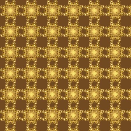 Seamless repeated pattern in gold color