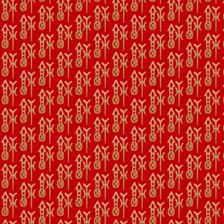 Seamless repeated pattern with Chinese character GOOG FORTUNE