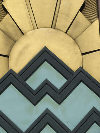 background with Art Deco style