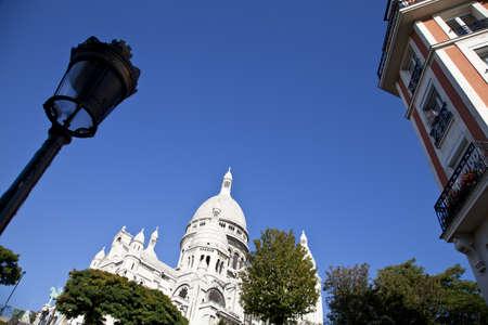 Basilica of the Sacred Heart, Sacre-Coeur Basilica, Montmartre district, Paris, France, Europe