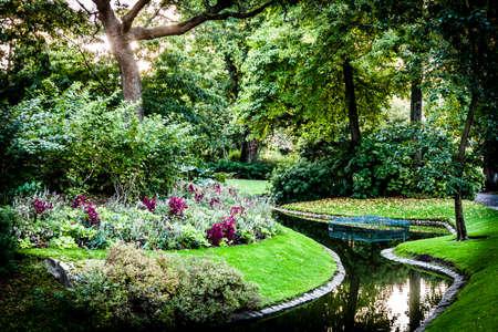 Botanical Garden detail in Nantes, France