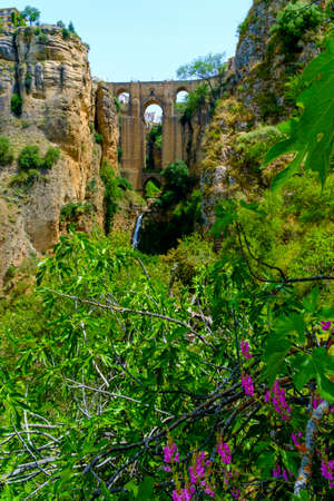 Puente Nuevo, New bridge in Ronda, one of the famous white villages in Andalucia, Spain