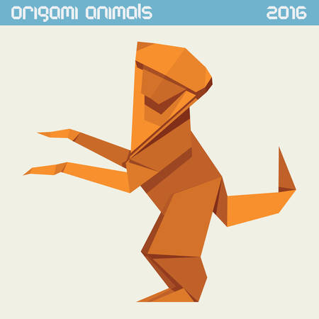 Easy Origami Monkey - OneColorfulDay | 450x450
