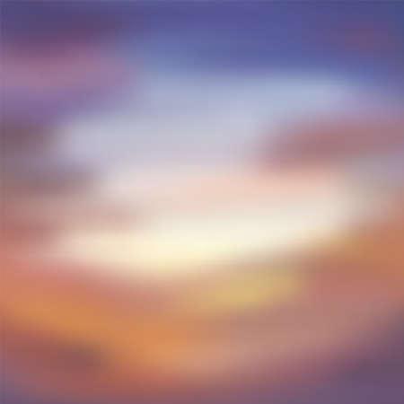Illustration pour Vibrant blurred sea or sky clouds. Vector gradient background - image libre de droit