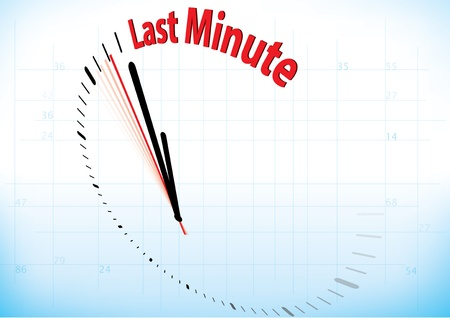 illustration of a clock almost reached the last minute