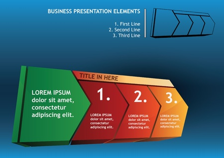 Presentation with directional elements