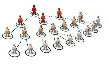 Illustration pour people in tree network - image libre de droit
