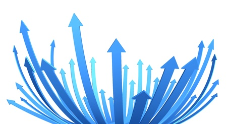 Photo pour illustration of a bunch of arrows rising upward - image libre de droit
