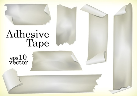 A Set of Illustrations of Adhesive Tapes