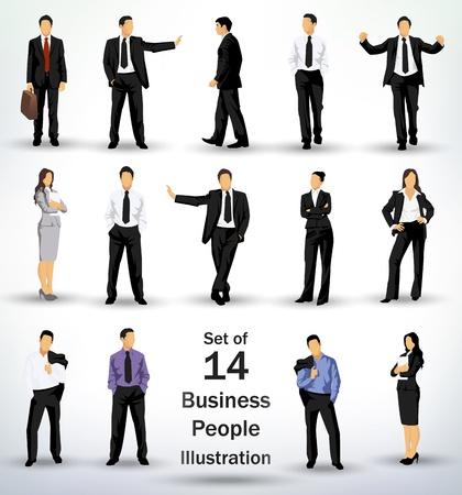 Foto de Collection of business people in different poses - Imagen libre de derechos