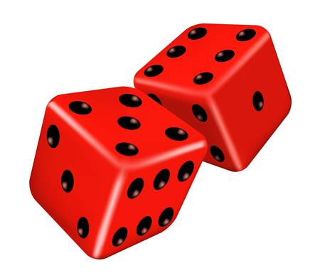 illustration of two red dice