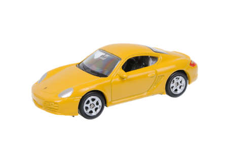 Adelaide, Australia - March 25, 2016:An isolated shot of a Porsche Cayman S Welly Diecast Toy Car. Replica diecast toy cars are highly sought after collectables.