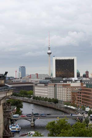 panoramic view of berlin city, germany
