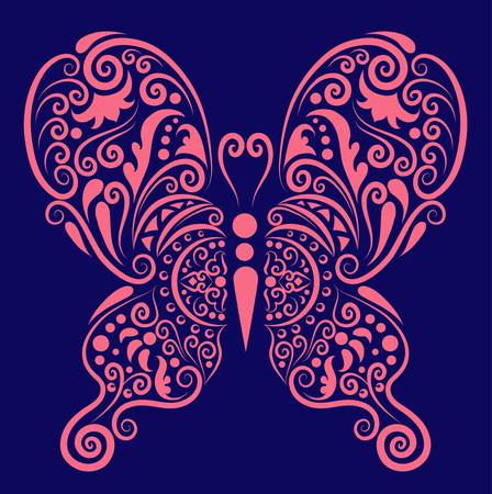 Illustration pour Butterfly decorative ornament - image libre de droit