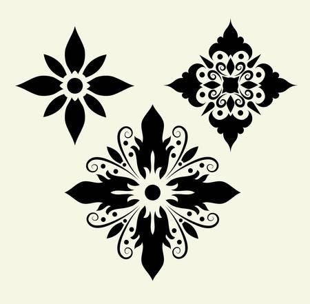 Flowers 5, floral pattern element