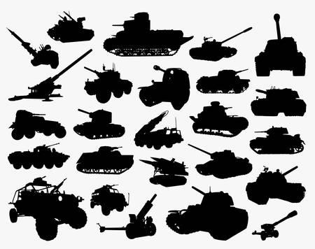Illustration pour Tank transportation silhouette. Good use for symbol, logo, web icon, mascot, sticker, or any design you want. - image libre de droit