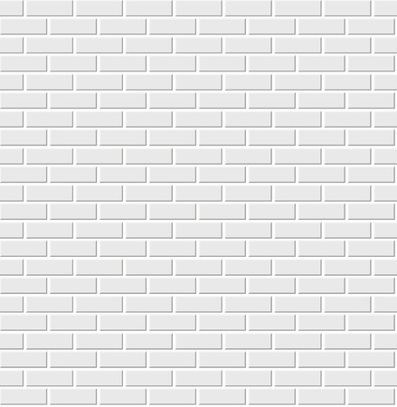 Illustration for white brick wall - Royalty Free Image