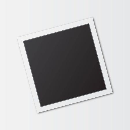 Illustration pour square photo frame - image libre de droit