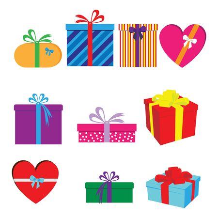 Illustration pour gift shape set - image libre de droit