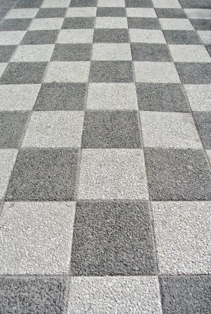 Black and white street tiles