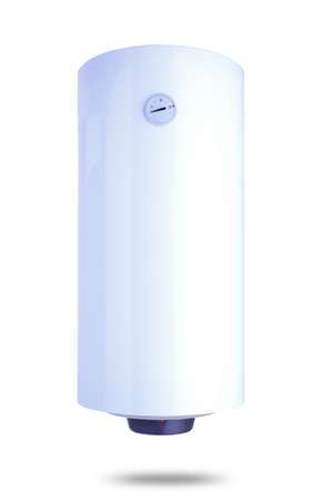 Electric water heater isolated on white, 100 liters
