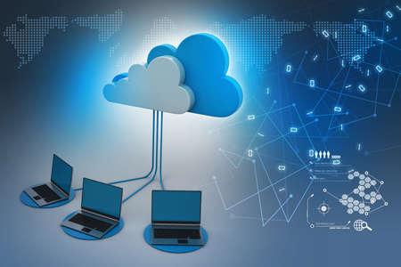 Photo pour Concepts cloud computing devices - image libre de droit