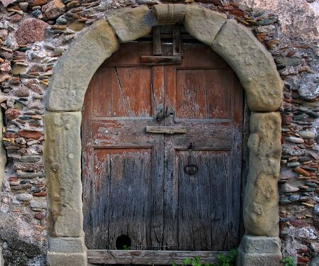 Old, wooden door.