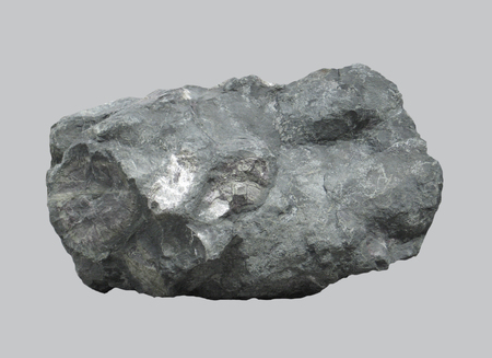 Magmatic volcanic rock basalt on an isolated background.