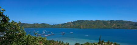 Photo pour a beautiful view in mandeh hill in west sumatra of indonesia. - image libre de droit