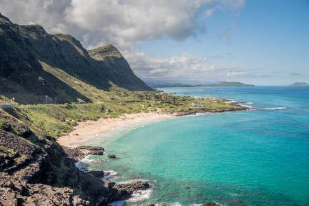 Waimanalo Beach Park on the beautiful Hawaiian Island of Oahu HDR image