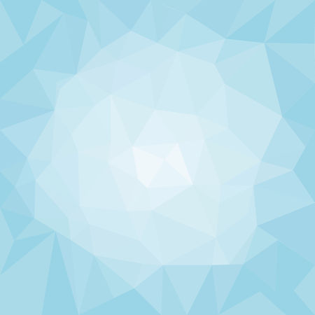 Abstract Light Blue Polygonal Triangle Winter Background