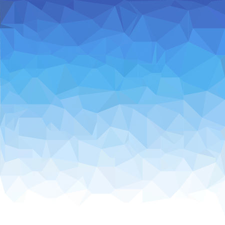 Abstract Blue And White Polygonal Triangle Winter Background