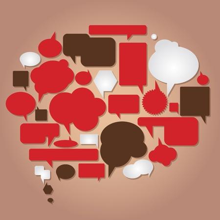 Illustration pour dialog bubbles vector collection - image libre de droit