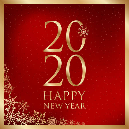 Illustration for happy new year greeting card vector illustration - Royalty Free Image