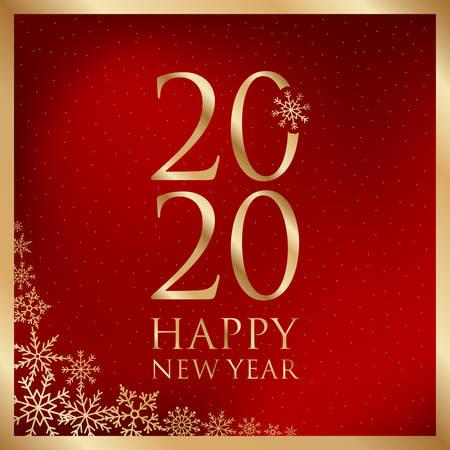 Illustration pour happy new year greeting card vector illustration - image libre de droit