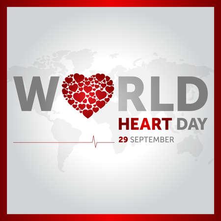 Illustration pour 29 september world heart day concept design vector illustration - image libre de droit