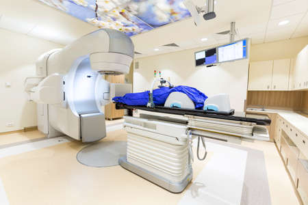 A radiation therapy for patients with caner. Modern cancer treatment in a new hospital.