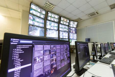 Foto für Monitoring surveillance security system for the trains in Sofia, Bulgaria. - Lizenzfreies Bild