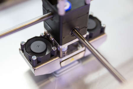 A process of 3D printing an element with a 3d printer.