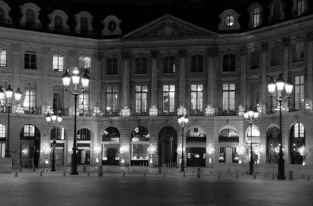 Place Vend&ocirc,me, Paris, by night, with great lights