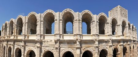 The Arles Amphitheatre is a Roman amphitheatre in the southern French town of Arles