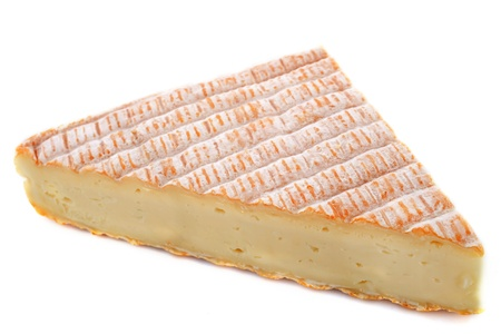 french cheese vieux pane in front of white background