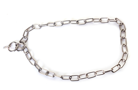 chain collar in front of white background