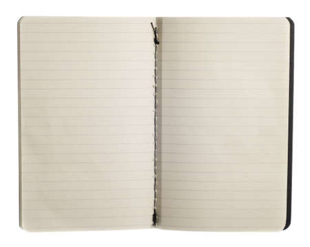 Notebook isolated on white.  Professionally spotted and retouched.  Clean background- no grey!